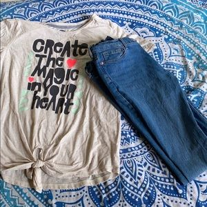 old navy girls tee&jeans set!